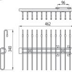Выдвижная вешалка верхнего крепления для брюк WW-WSPP00-01 Чертеж