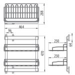 Выдвижная двухъярусная система для обуви PP-2OBUW0-05 Чертеж